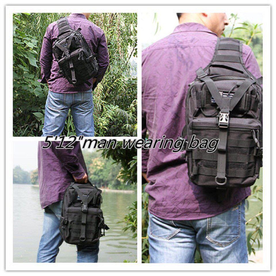 Samll tático sling saco pacote militar rover