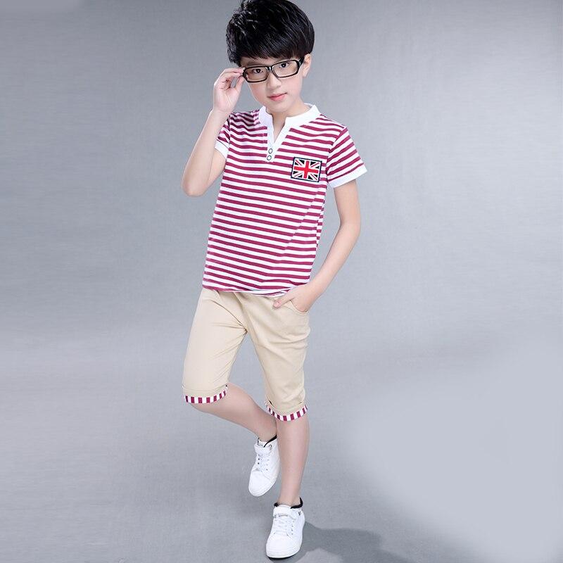 Clothing set Kids Boys clothes Summer Clothing Roupas infantis menino Sport Children suit Cotton T-shirt+Pants two piece sets