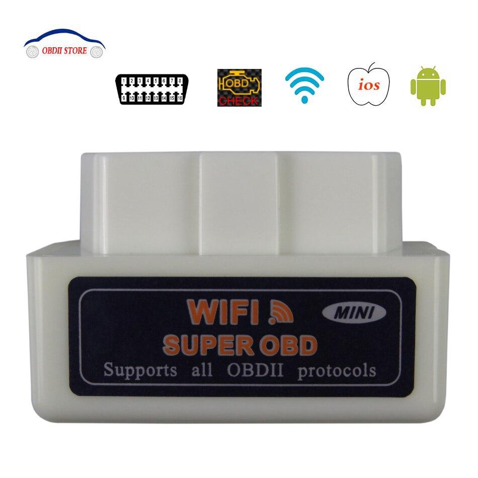 ELM 327 Obd 2 V1.5 ELM327 Wifi OBD2 OBDII de diagnóstico del coche ELM 327 V 1,5 wi-fi OBD ii herramienta de Diagnóstico Auto del adaptador