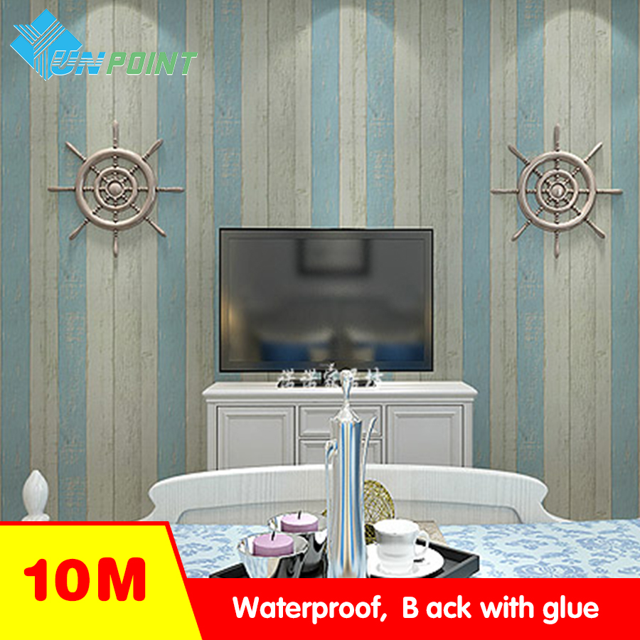 Bedroom Wood Grain Wall Stickers self adhesive PVC Wallpaper Refurbished Wardrobe Door D ...