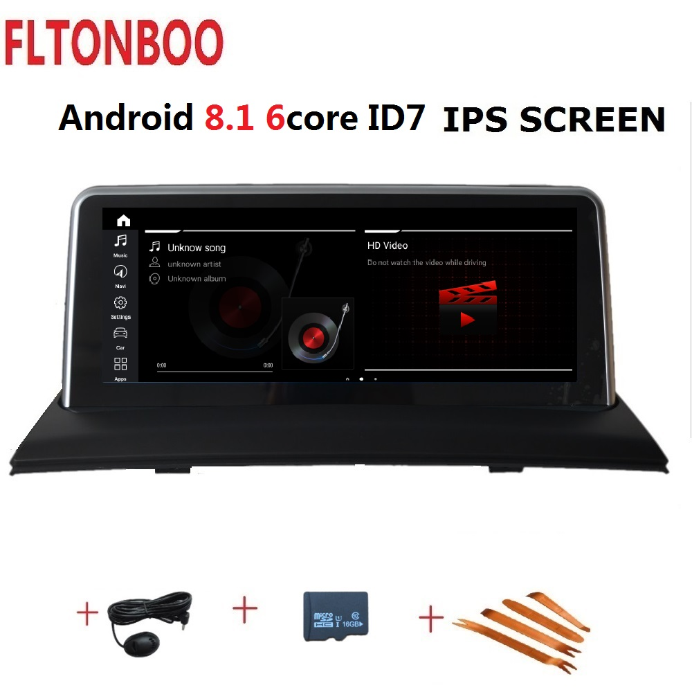 10.25 pouces Android 8.1 voiture Gps radio plyaer navigation ID7 pour BMW X3 E83 support 2 GB RAM 32 GB ROM 6 CORE wifi bluetooth