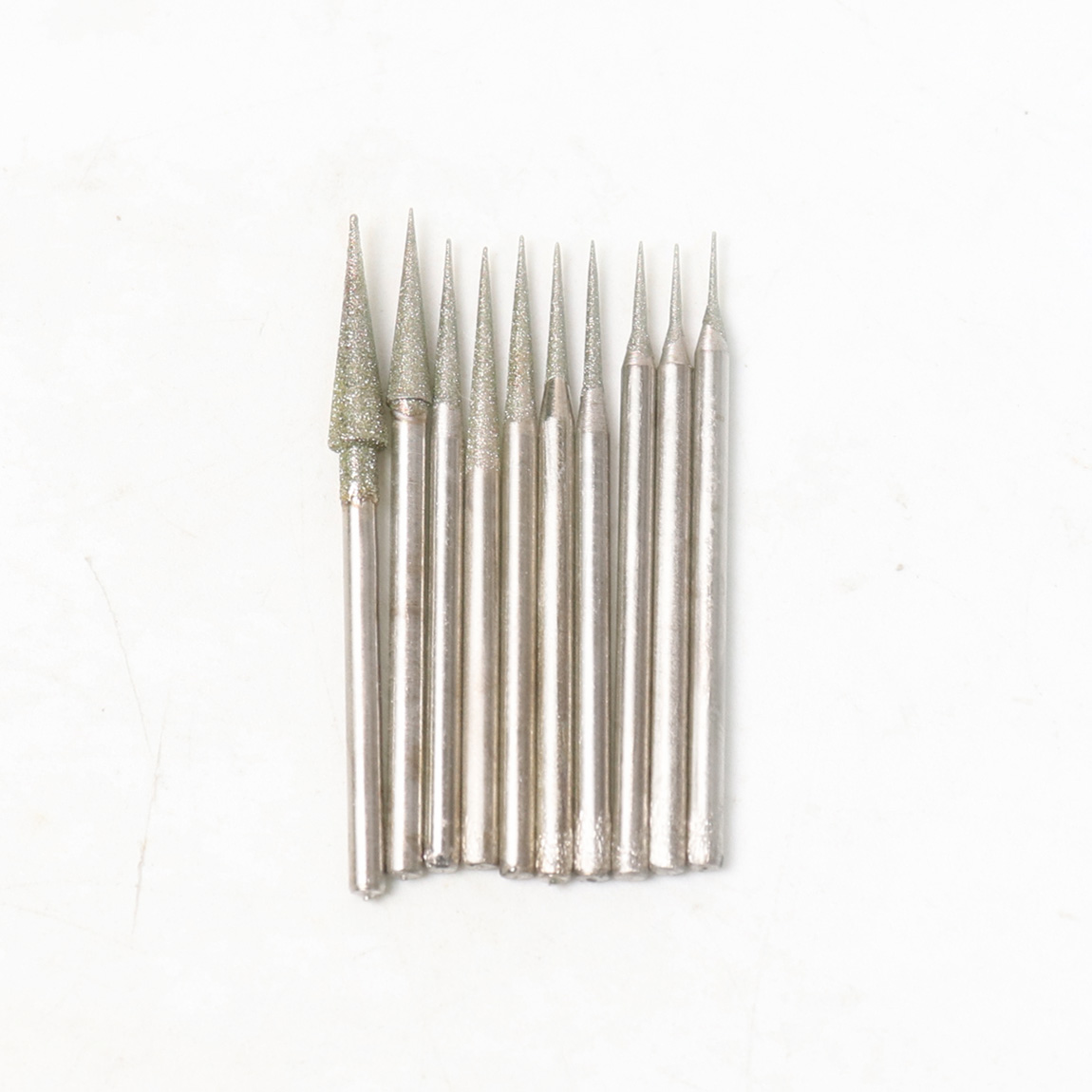 20Pcs Diamond Sharp Needle Burrs Rotary Point  Taper Grinding Head Shank 2.35mm