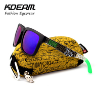 Kdeam Mens Sunglasses Sport Women Brand Designer Square Sun Glasses Mirrored Beach Oculos De Sol For