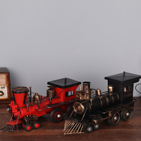 American Rural Retro Hand To Do The Old Locomotive Model Steam Locomotive Head Model Home Study