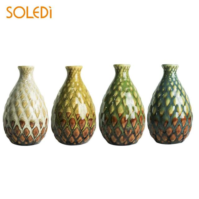 Flower Pot Vase Ornament Decoration Colorful Delicate Tabletop