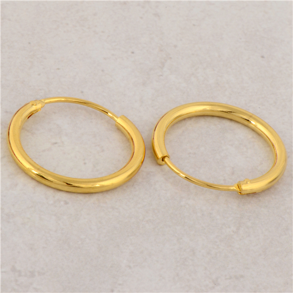 Gussiarro Free Shipping Smooth Yellow Gold Color Women S Round Hoop Earrings No Nickel Whole In From Jewelry Accessories On