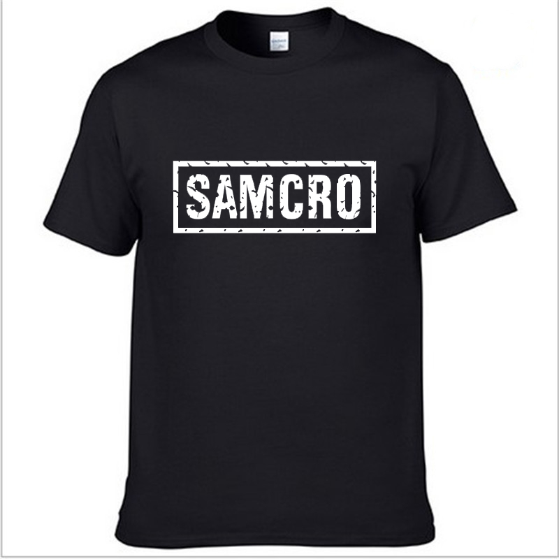 SOA Sons Of Anarchy The Child Fashion SAMCRO Print T-Shirt Men Fashion Harajuku HipHop Short Sleeve Cotton Casual Men Tee Shirts