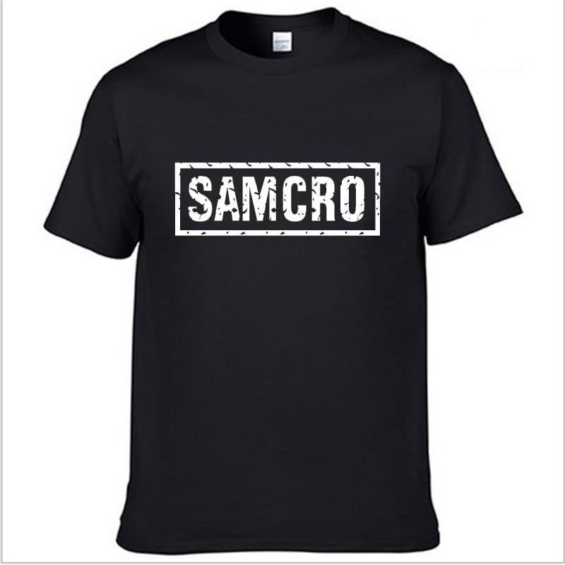 SOA Sons Of Anarchy The Child Fashion SAMCRO Print T-Shirt Men Fashion Harajuku HipHop Short Sleeve Cotton Casual Men Tee Shirts