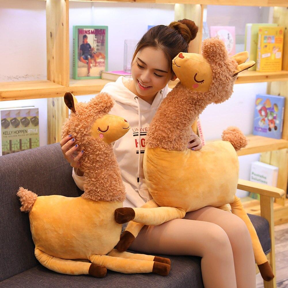 1 шт. 55/80 см Милая Послушная верблюжья Подушка плюшевая мягкая игрушка кукла Домашний Детский праздничный подарок на день рождения