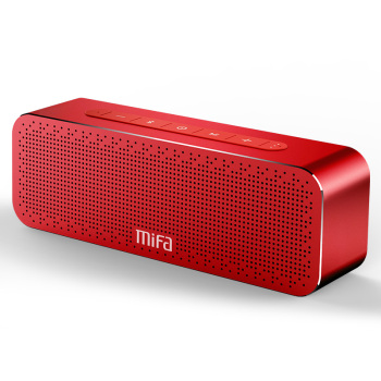 mifa portable wireless bluetooth speaker with stereo sound boombox speakers mic and aux tws