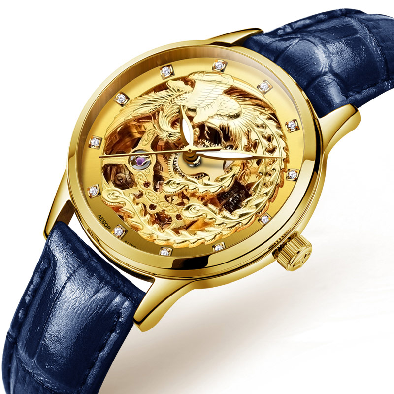 AESOP Golden Phoenix Watch Women Automatic Mechanical Sapphire Crystal hours female Clock relogio feminino 2018 limited