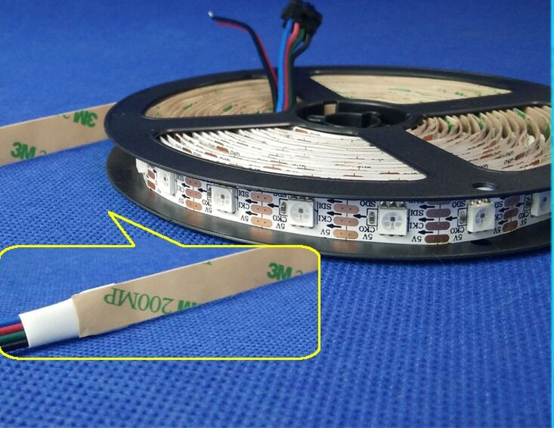 Tiras de Led ws2801 ic 30/60 leds/pixels/m ip65 Modelo Número : Cx2802 Led Pixel Strip