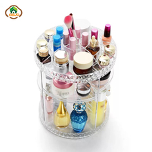 Makeup Organizer 360 Rotating  Storage Box For Bathroom Dressing Table Cosmetic Lipstick Jewelry Makeup Organizer