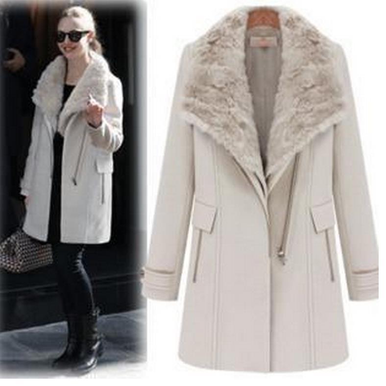 Здесь продается  Women Winter Coat Latest Super Quality Woolen Coat Solid Color Elegant High-end Casual Wool Big Yards Coat 2 pieces coat + vest  Одежда и аксессуары