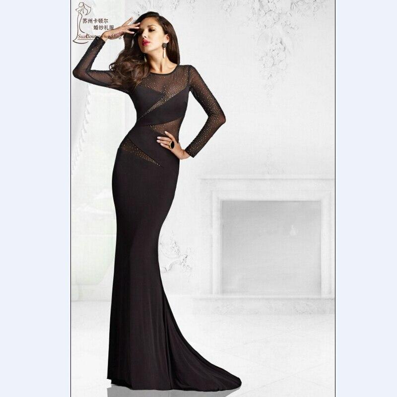 Black Wedding Gown Designers: Aliexpress.com : Buy Long Sleeve Mermaid Black Prom