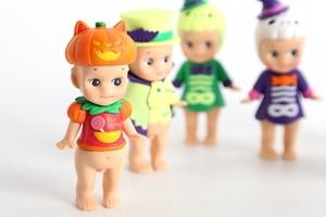 Image 5 - 6 יח\סט 6 סגנון מיני סוני מלאך ליל כל הקדושים סדרת חמוד PVC פעולה איור אסיפה דגם חג המולד מתנה לילדים צעצוע