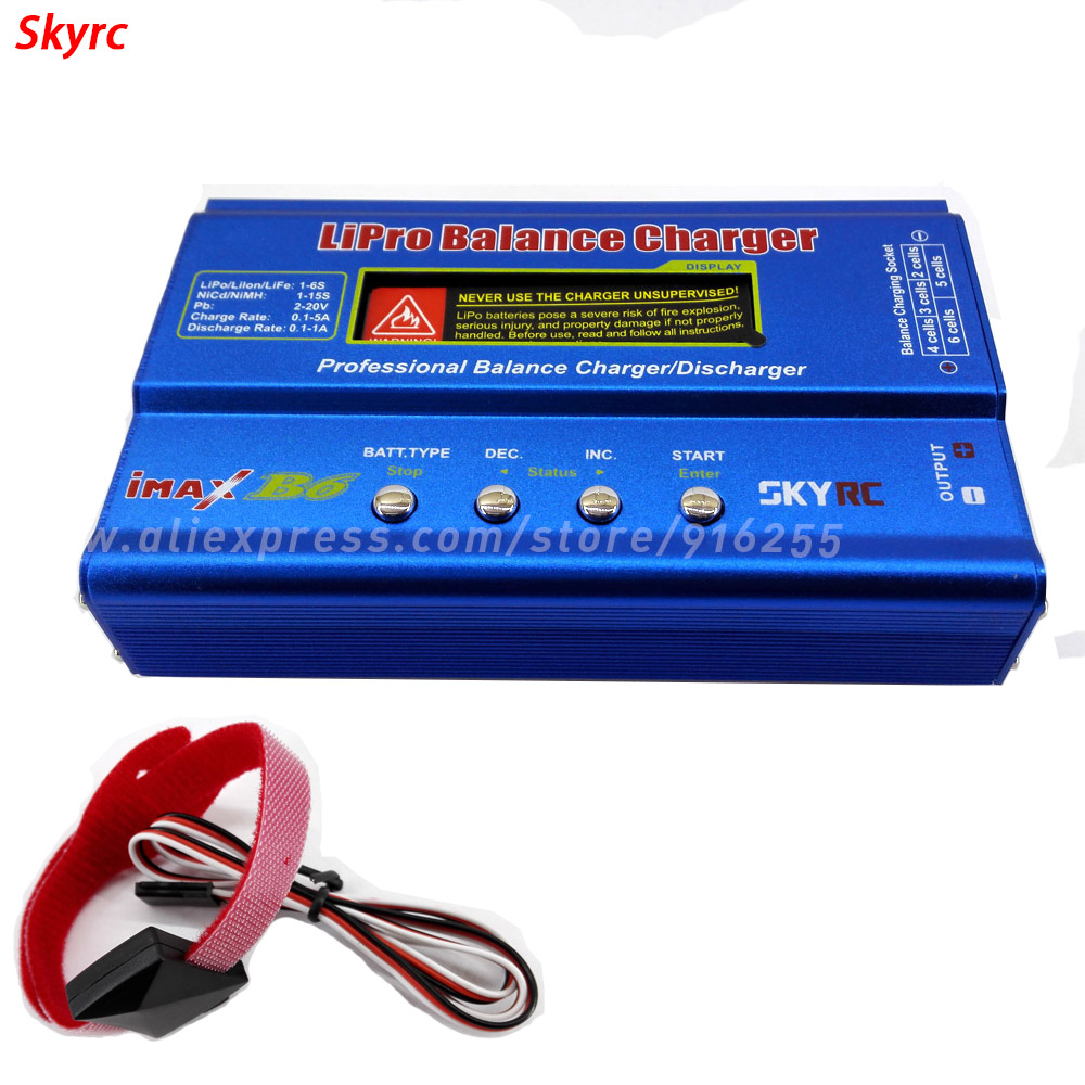 SKYRC rc balance lipo charger quadcopter IMAX B6 rapid discharger + temperature sensor combo for lipo life lilon battery car tmaztz tz 3102 ip67 4wire roller lever plunger limit switch spdt no nc copper wire 3m