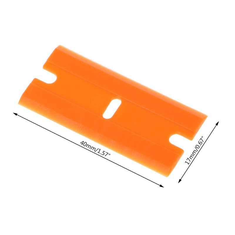 10 قطعة مزدوجة الحواف شفرات البلاستيك مكشطة نافذة سيارة غراء الزجاج مزيل الشريط السلامة لاصق غشائي أداة إزالة الصواميل
