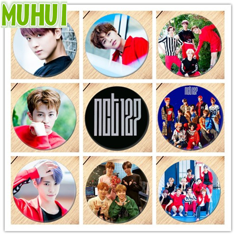 Kpop NCT127 Album CHERRY BOMB Photo Brooch Breastpin Badge Broches For Clothes Backpacks 18128 image