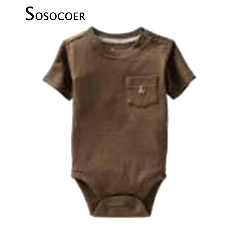 af65590ad SOSOCOER Baby Boy Rompers Summer Fashion Short-sleeve Infant Romper Boys  Clothes Summer Style Newborn Jumpsuits Rompers