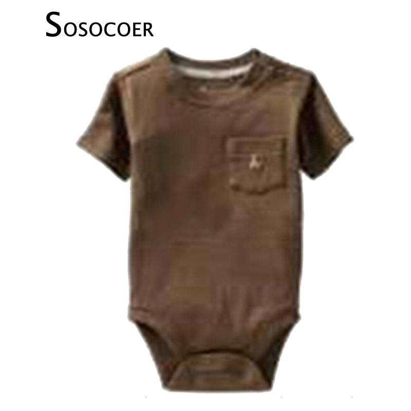 8b4c646f9 Sosocoer السروال القصير الصيف أزياء نمط قصيرة الأكمام الرضيع رومبير الأولاد  ملابس الصيف الوليد حللا