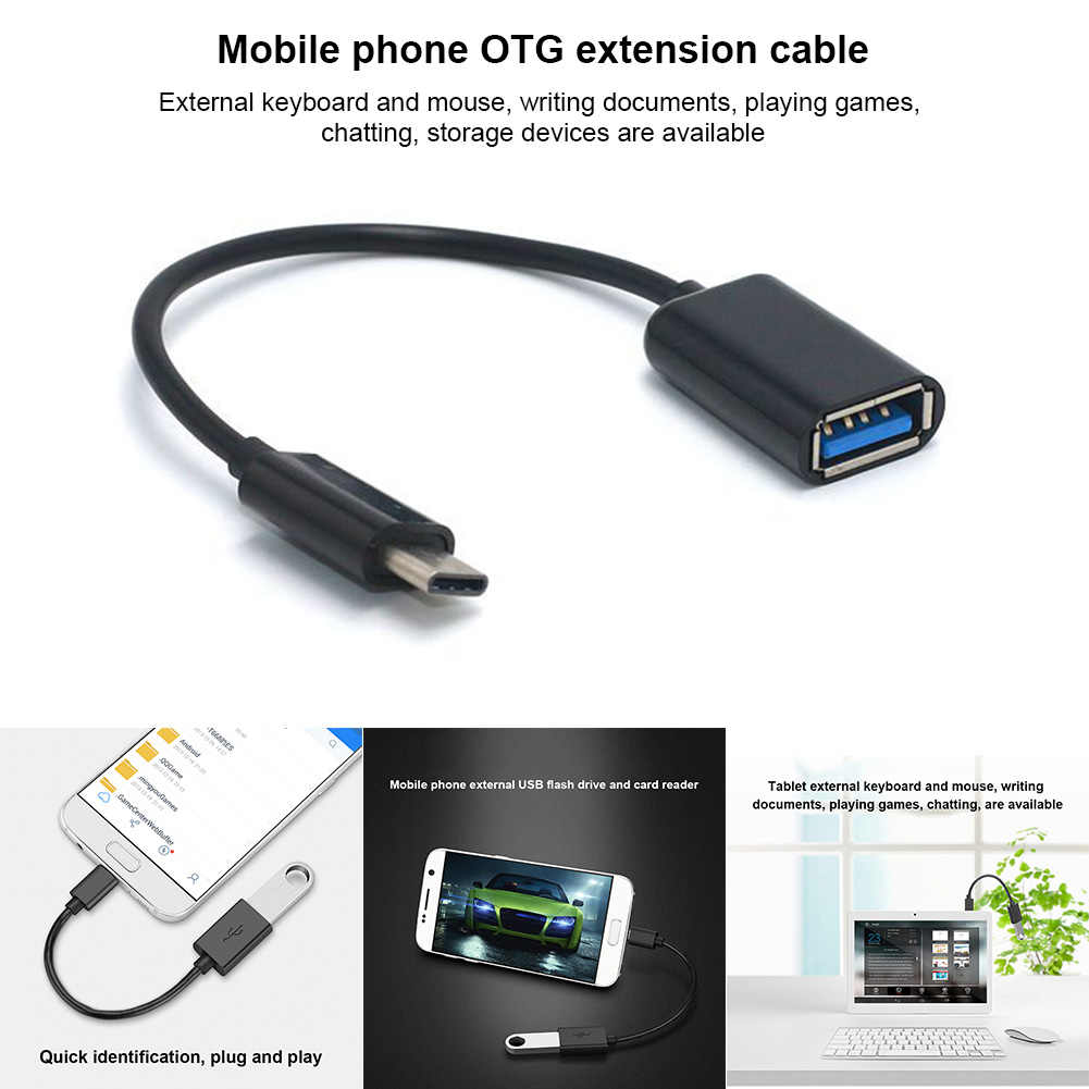 16CM  Type-C OTG Adapter Cable USB 3.1 Type C Male To USB 3.0 A Female OTG Data Cord Adapter NK-Shopping