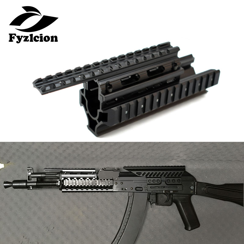 Hunting Accessories Ak74 Tactical Quad Rails Handguard Rail With 20mm Picatinny Side Rail Mount For AK47 74 AKs
