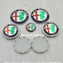NEW ALFA ROMEO Logo sticker 74mm Hood Trunk Emblem/40mm Steering Wheel Badge/ 60mm Wheel Center Caps for Mito 147 156 159 166