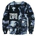 Alisister rock clothing imprimir mulheres homens tupac 2pac thug life do hoodie camisola crewneck gráfico 3d harajuku moleton feminino topo