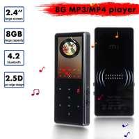 Black/White 8GB 2.4 Inch LCD 240x320 Screen for bluetooth MP3 MP4 TF Card Mini Walkman Speaker Music Player E book