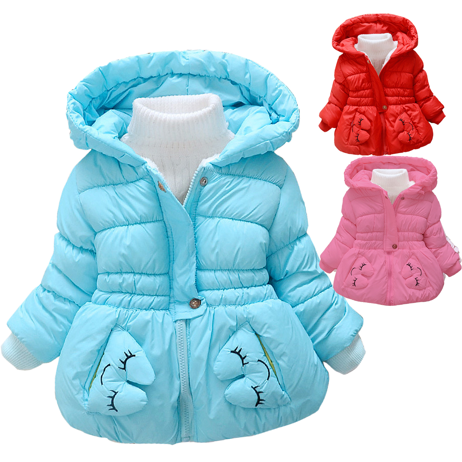 Подробнее о Baby Girls Jacket Casual Hooded Outerwear Girls Coat Winter Kids Clothing Children Jackets For Girls Fashion Cardigan new 2017 baby boys children outerwear coat fashion kids jackets for boy girls winter jacket warm hooded children clothing