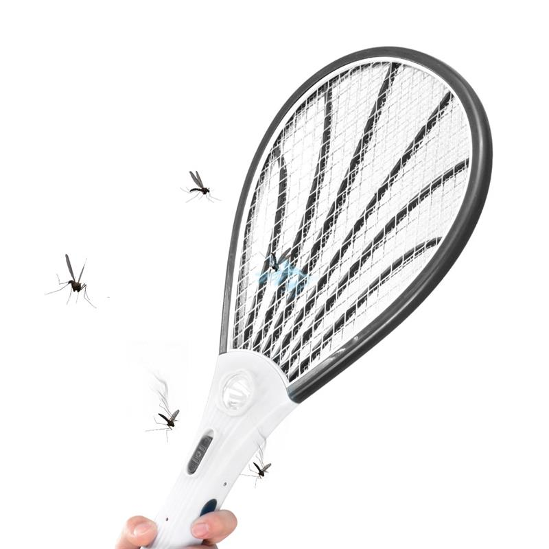 ABEDOE Dry Cell Hand Racket Electric Swatter Home Garden Pest Control Insect Bug Bat Wasp Zapper Fly Mosquito Killer