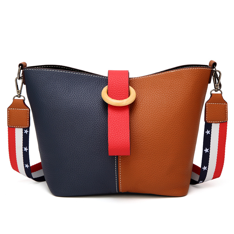 2018 New Handbags Europe And The United States Fashion Stitching Women's Photo Bag Handbag Shoulder Bag fashion handbags europe and the united states trendy handbag 2018 new shoulder messenger bag