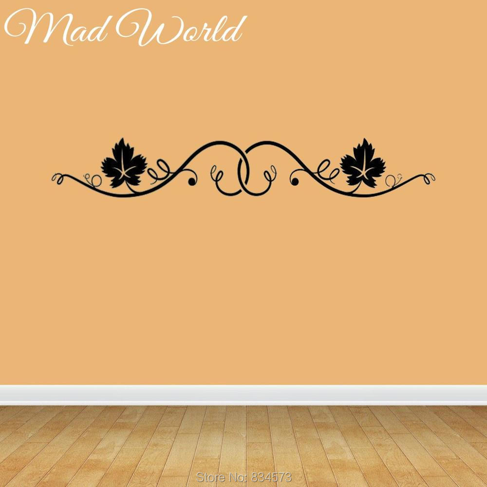 Mad World Floral Silhouette Wall Art Stickers Wall Decals Home DIY ...