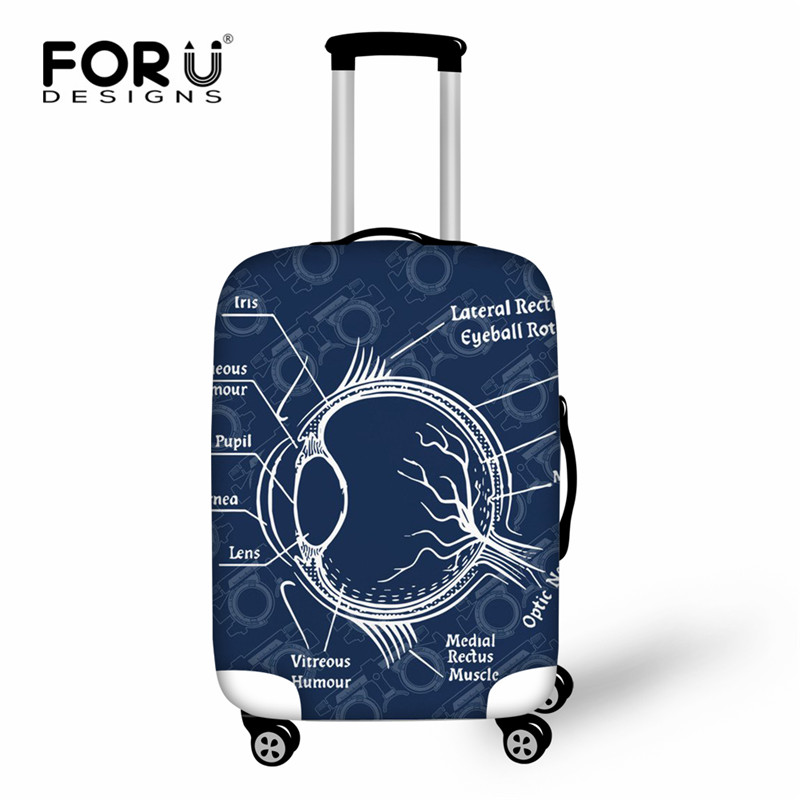 FORUDESIGNS Optometry Pattern Luggage Cover For Trunk Case Apply To 18-30 Suitcase Suitcase Protective Cover Travel Accessories