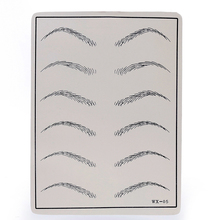 1 Sheet Eyebrows Tattoo Practice Skins Synthetic Permanent Training Tattoo Accesories For Beginners
