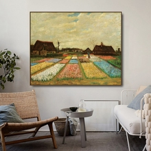 Flower Beds in Holland by Vincent Van Gogh Posters and Print Canvas Painting Calligraphy Wall Picture for Living Room Home Decor
