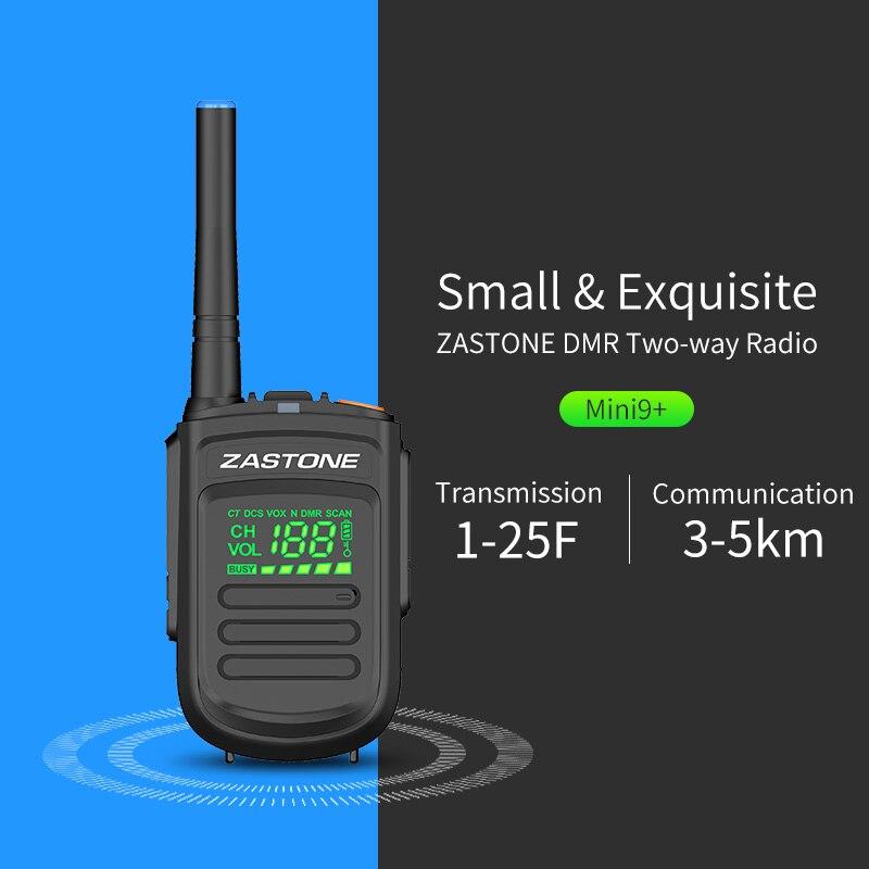 Zastone Mini9 Plus DMR Portable Digital Walkie Talkie UHF 400-470MHz HF Transceiver Communicator Handheld Radio Transceiver