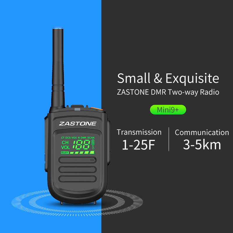 Zastone Mini9 plus DMR Portable Digital Walkie Talkie UHF 400-470MHz HF Transceiver Communicator Handheld Radio Transceiver