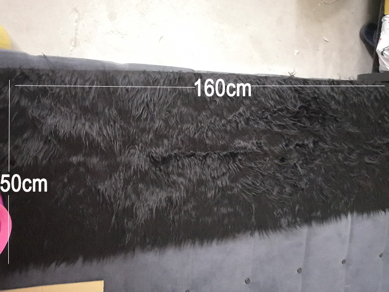 Black Fur Fabric For Coat Vest Stage Cosplay DIY Accessories