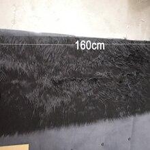 Черный мех Ткань для пальто жилет сценический Косплей DIY аксессуары