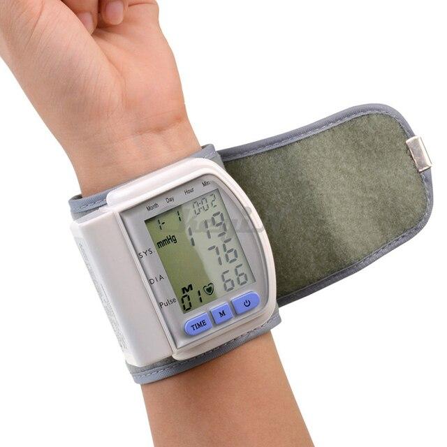 Health Care Portable Digital LCD Wrist Blood Pressure Monitor Pulse meter Tonometer + Heart Beat Meter XYJ01WQ-S4849
