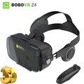 BOBOVR Z4 VR Виртуальная Реальность Очки Бобо VR Z4 Мини Матовый Черный Google Картон с Наушники для 4.7-6.0 дюймов Смартфон Лучше, чем VR BOX 2.0 VR shinecon с пультом дистанционного управления 3д ручка