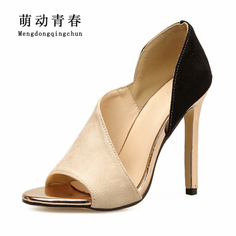 Women High Heels Sandals 2018 Fashion Peep Toe Party Shoes Women Slip On Sexy Mixed Colors High Heels Sandalias Sapatos women shoes sexy feather thin heels sandals fashion super high 11cm women sandals party shoes high heels sandalias mujer fashion