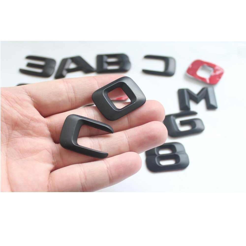 3D Matt Hitam Trunk Huruf Badge Emblem Emblem Lencana Stiker untuk Mercedes Benz CL500 CL550 CL600 CL400 V8 Biturbo AMG 4MATIC