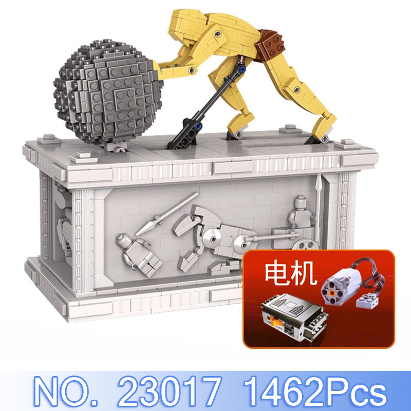 купить Lepin 23017 Technic Figures 1462Pcs Sisyphus Kinetic Sculpture Model Building Kits Blocks Bricks Compatible Set Educational Toys по цене 5686.63 рублей