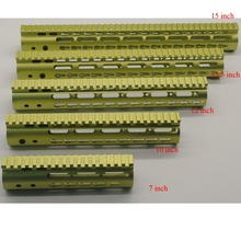 "7""10""12""15″ inch Ultra Light Slim Glass Green Anodized Keymod Free Floating Hand Guard Fore Rail Mount System"