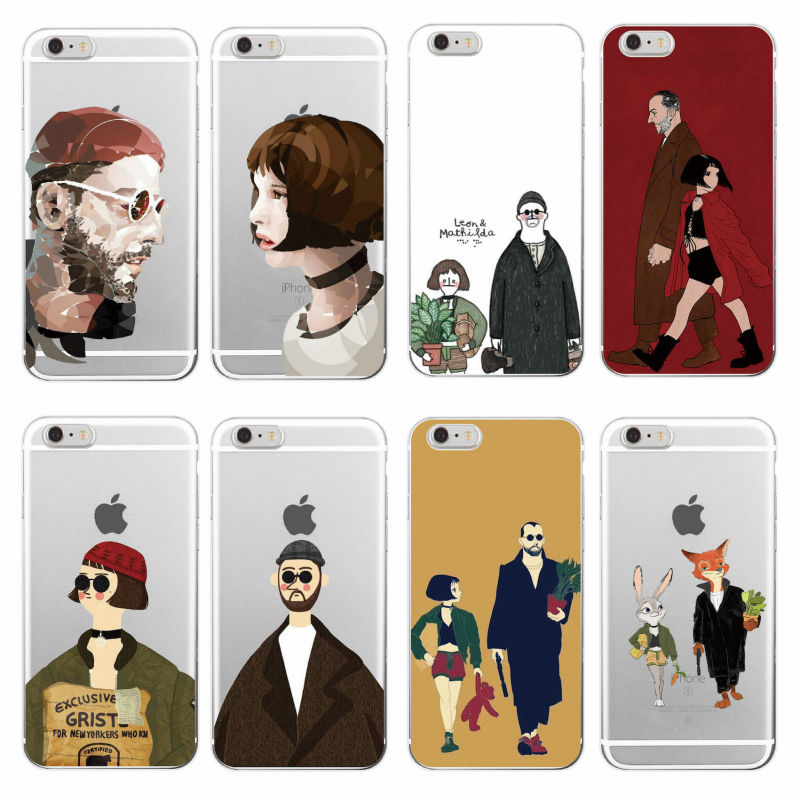 Leon Matilda Natalie Portman Movie Poster Soft TPU Phone Case Cover Coque Funda For iPhone 7plus 7 6 6S 5 5S SE 4 4S 5C Samsung