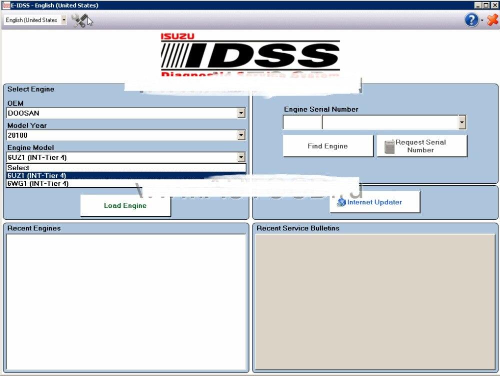 Isuzu E IDSS Engineering Release 2015 Isuzu Diagnostic Service System support All Isuzu Engines OEM models