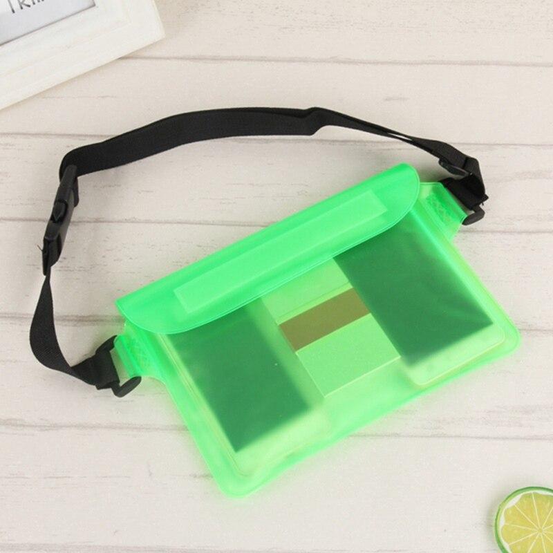 Summer Sport Beach Waterproof PVC Swimming Package Belt Holder Dry Bum Bag Pouch & Strap Sealing Strip Mobile Phone Pouch Drift